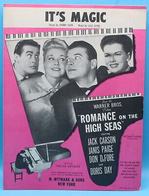 It's Magic - Sammy Cahn & Jule Styne -  Sheet Music   1948