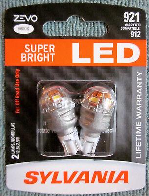 Sylvania Zevo Super Bright White 921 912 LED 12v  2.5W - 2 BRAND NEW Bulbs
