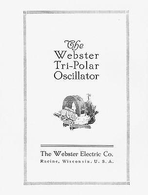 Webster Tri - Polar Oscillator Manual