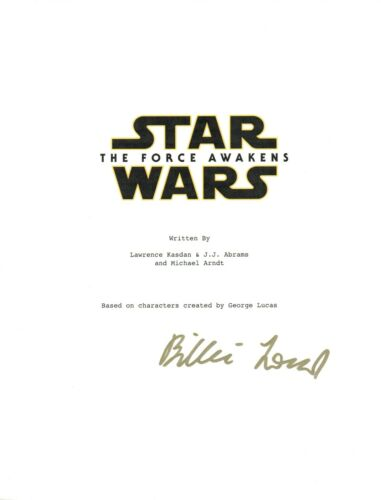 Billie Lourd Signed Autographed STAR WARS THE FORCE AWAKENS Movie Script COA