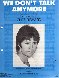 Details about cliff richard we don t talk anymore oz 4 page sheet
