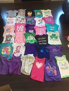 Girls size med 7/8 t-shirts/tanks 32 pieces lot! obo