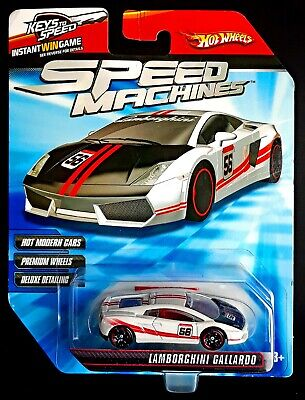 Hot Wheels Speed Machines White Lamborghini Gallardo 56