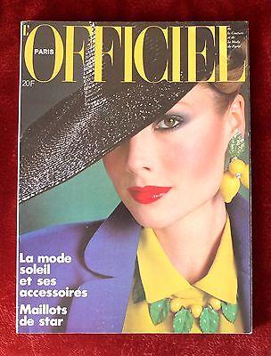 L'Officiel Paris Magazine ~ #651 April 1979 ~ Rodolphe Haussaire Michel Picard