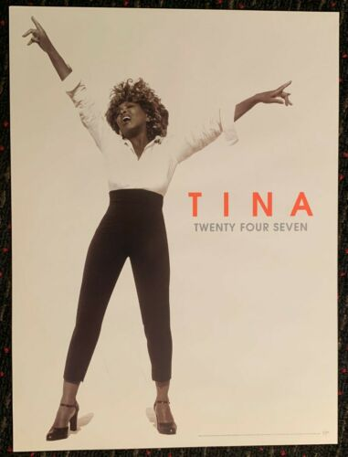 TINA TURNER Twenty Four Seven18x24 promo poster record store display 2000 Virgin