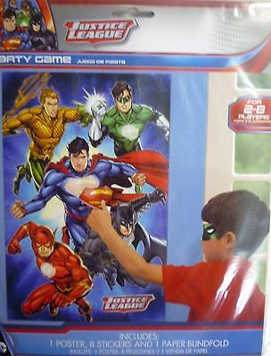 Justice League Party Decoration & Game (Pin the tail on a Donkey)Batman Superman