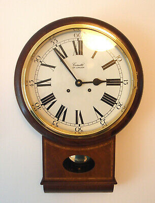 Classic English Comitti of London Wall Drop Dial Wall Station School Clock