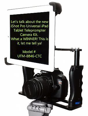 iShot G10 Pro Universal iPad Tablet Premium Teleprompter Mount Camera Cage Kit