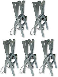 5 X Scissor Mole Traps Claw Excellent Professional Control Trap Galvanised Trap