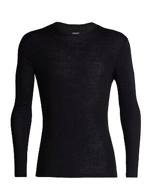 Icebreaker Men's 175 Merino Everyday Bodyfit Long-sleeve Baselayer, Black, small