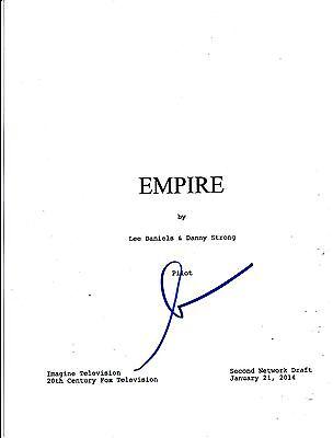 LEE DANIELS SIGNED EMPIRE PILOT EPISODE SCRIPT 64 PAGE AUTOGRAPH COA FOX (Empire Pilot Episode)