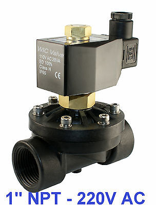 1 Inch Normally Open Zero Differential Electric Water Solenoid Valve 220v Ac