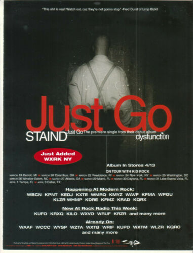 Staind 1999 Ad- Just Go   Advertisement