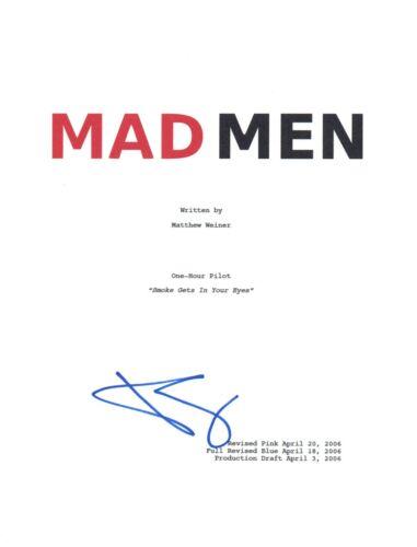 January Jones Signed Autographed MAD MEN Pilot Script COA