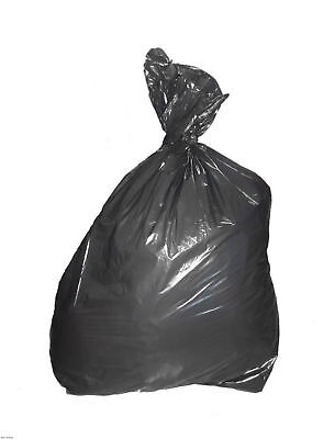 50 x Virgin Heavy Duty Black Refuse/rubbish Sacks Bin Bags 250 Gauge