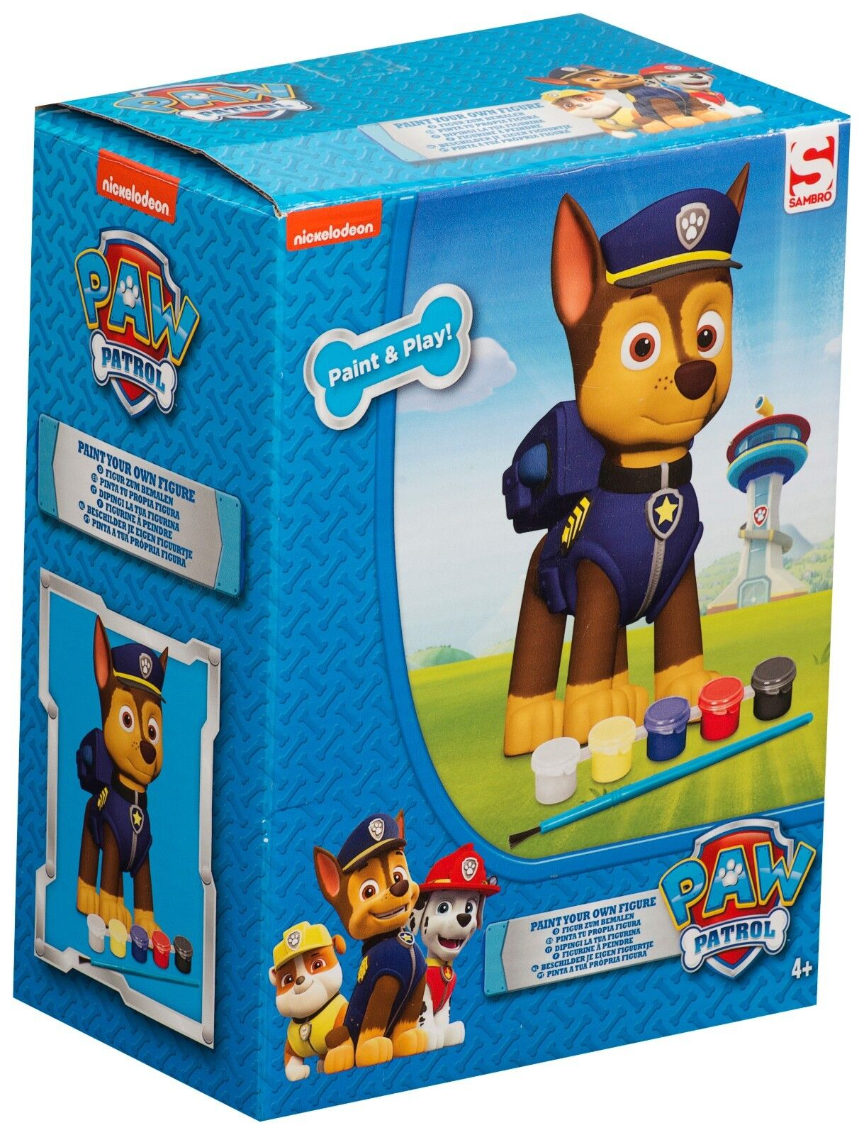 Paw Patrol Chase Design Paint Your Own Figure 3D Painting ...