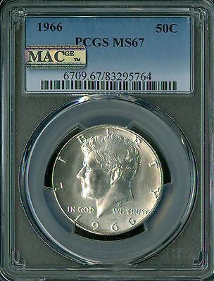 Click now to see the BUY IT NOW Price! 1966 KENNEDY HALF DOLLAR PCGS MAC MS 67 PQ FINEST ST IN SERIES SPOTLESS .