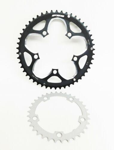 FSA 50-34T Compact Road Bike 9 speed Chainring Set 110 BCD Alloy 50t, Steel 34t