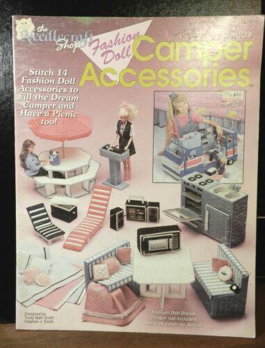 Plastic canvas Fashion Doll CAMPER ACCESSORIES Barbie pattern book