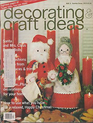 DECORATING & CRAFT IDEAS MAGAZINE DECEMBER 1975/JANUARY 1976 *CHRISTMAS ISSUE* - Craft Ideas Magazine