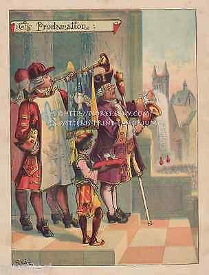 Cinderella-The Proclamation-Castle-Fairy Tale-1897 ANTIQUE VINTAGE PRINT-Picture ()