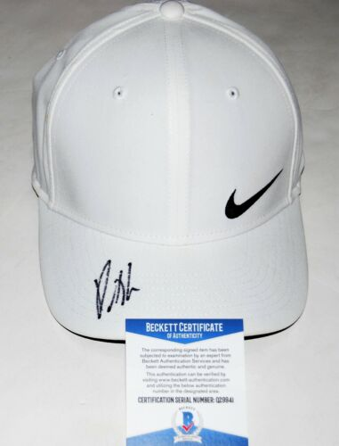 PATRICK REED signed (2018 MASTERS CHAMP) NIKE Official Golf hat cap COA Beckett