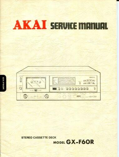 Vintage Akai Model GX-F60R Stereo Cassette Deck Service & Preliminary Manuals