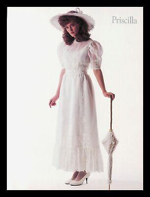1988 Priscilla Wedding Dress Gown Vintage PRINT IMAGES Marriage Bride Women 80s