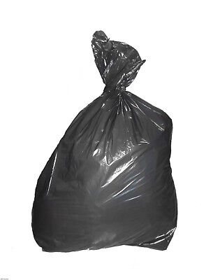 100 x Black Refuse Sacks Bin Bags Loose 150 Gauge MEDIUM QUALITY