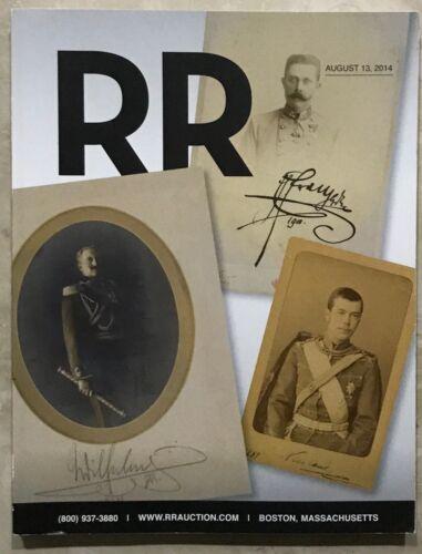 RR AUCTION CATALOG HISTORICAL,MUSICIANS, NASA APOLLO, SPORTS, ENTERTAINMENT PLUS