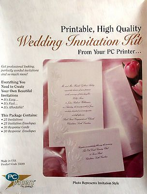 AMPAD White Pearl Floral Border 25 PACK PRINT YOUR OWN WEDDING INVITATIONS NEW](Print Your Own Wedding Invitations)
