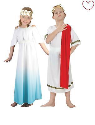 Girls Boys Roman Fancy Dress Goddess Emperor Toga Greek Costume](Roman Girl Dress)