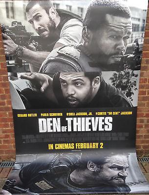 Cinema Banner: DEN OF THIEVES 2018 Gerard Butler 50 Cent O'Shea Jackson
