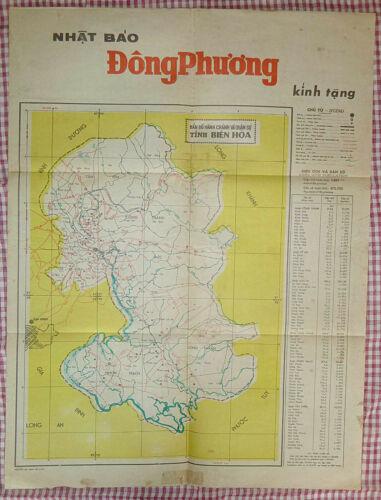 BIEN HOA - MILITARY MAP - December 1970 - DUC TU - DI AN - TAN YEN - Vietnam War