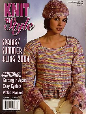 Knit n Style June 2004 Summer Tops Camisole Cardigan Machine Knitting Patterns Camisole Knitting Patterns