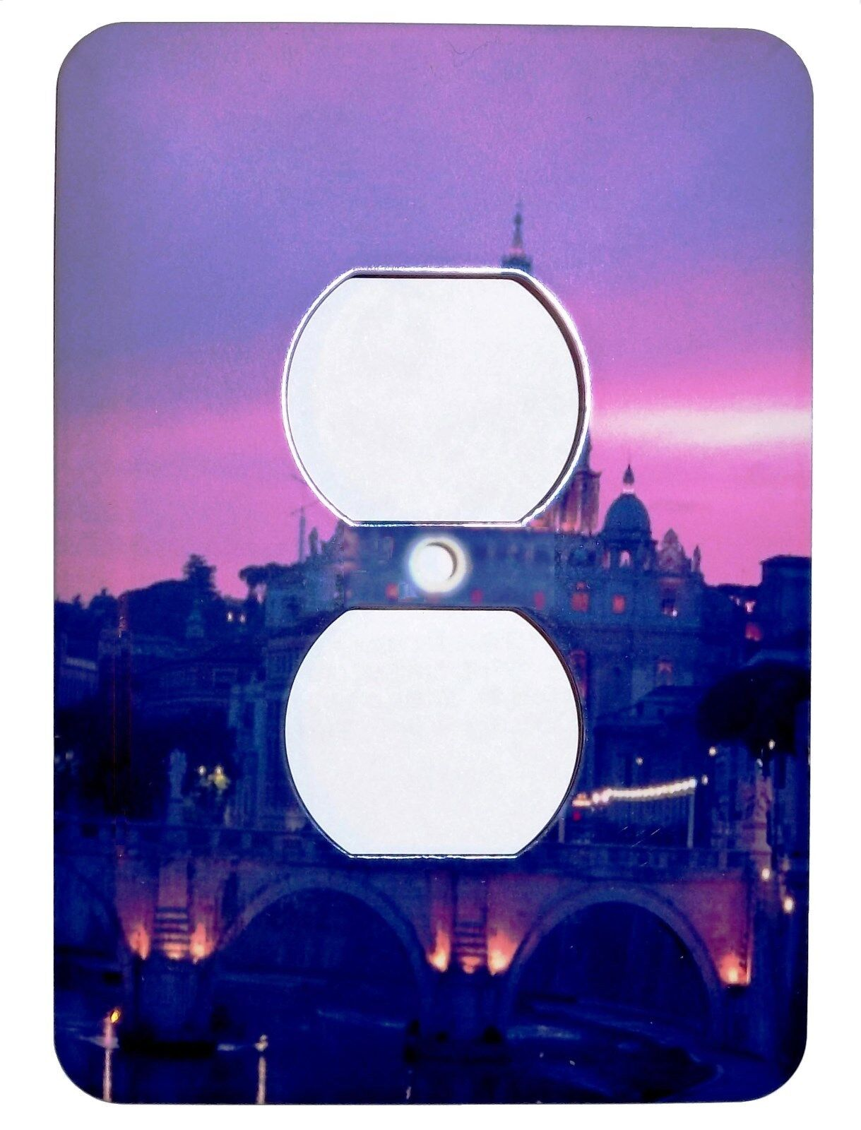 sunset city lights double power plug outlet