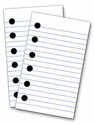 Lined Paper Refills For 3 X 5 Binders 200 Sheets