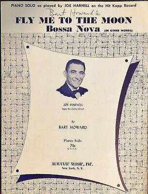 rare FLY ME TO THE MOON BOSSA NOVA - (IN OTHER WORDS) - 1954 – PIANO SHEET (Fly Me To The Moon Sheet Music)