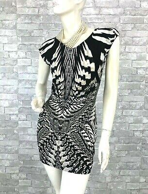 Roberto Cavalli New Black White Stretch Long Blouse 2 4 US 38 IT S Runway Auth