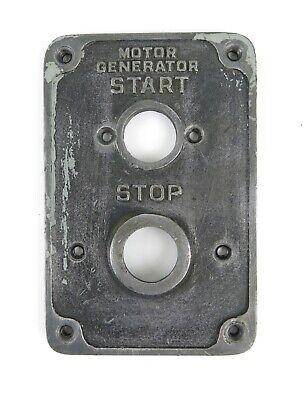Monarch 10ee Lathe Cast Metal Motor Generator Start Stop Plate