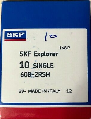 Skf 608-2rsh Rubber Sealed Ball Bearing 8x22x7 1 Pcs