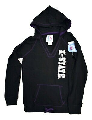 E5 NCAA Womens Kansas State Wildcats Let's Go Cats Hoodie NWT S, M, L, -
