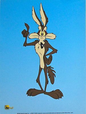 Warner Bros Wile E Coyote Limited Edition Sericel Animation Cel Looney Tunes