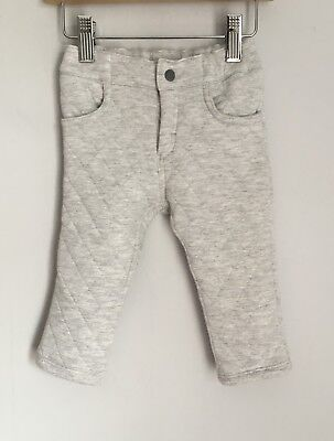 Petit Bateau Skinny Jeans Style Padded Baby Trousers Size 6-12 Months Grey BNWOT