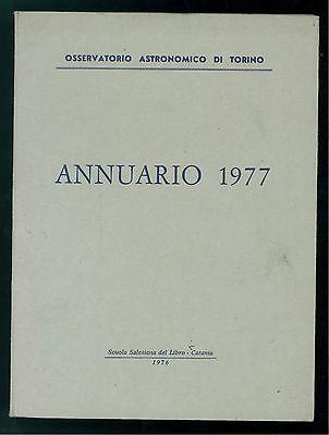 OSSERVATORIO ASTRONOMICO DI TORINO ANNUARIO 1977 ASTRONOMIA PIEMONTE