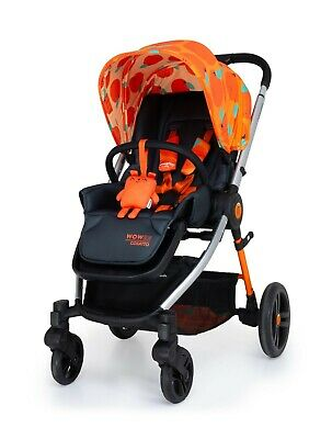 New Cosatto Wowee I Size bundle So Orangey with Carrycot Car seat base and pvc