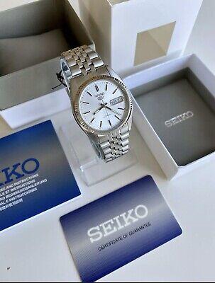 Seiko SNXJ89 K1 Jubilee Date just Silver Dial Watch