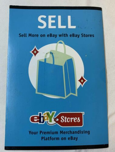 early 2000s EBAY STORES promotional announcement brochure