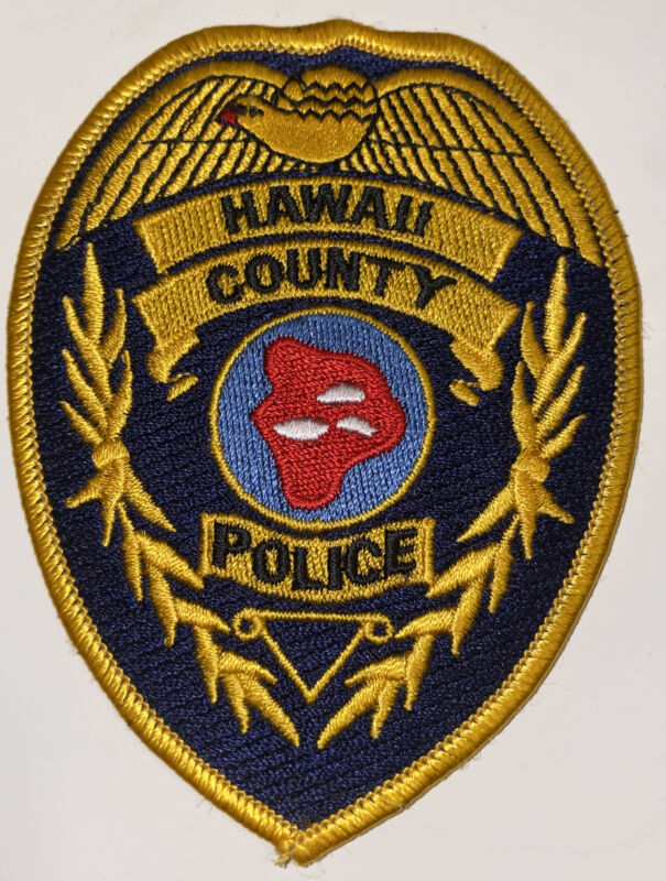 HAWAII BIG ISLAND COUNTY POLICE DEPARTMENT PATCH