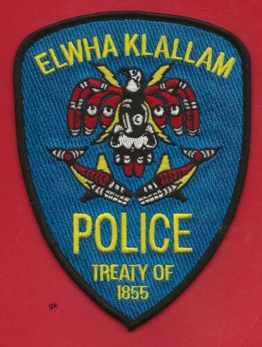ELWHA KLALLAM WASHINGTON STATE TRIBAL POLICE SHOULDER PATCH